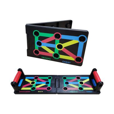 Foldable push up board